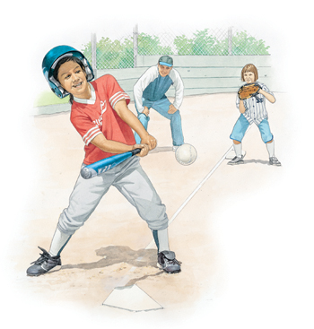 Boy playing baseball.